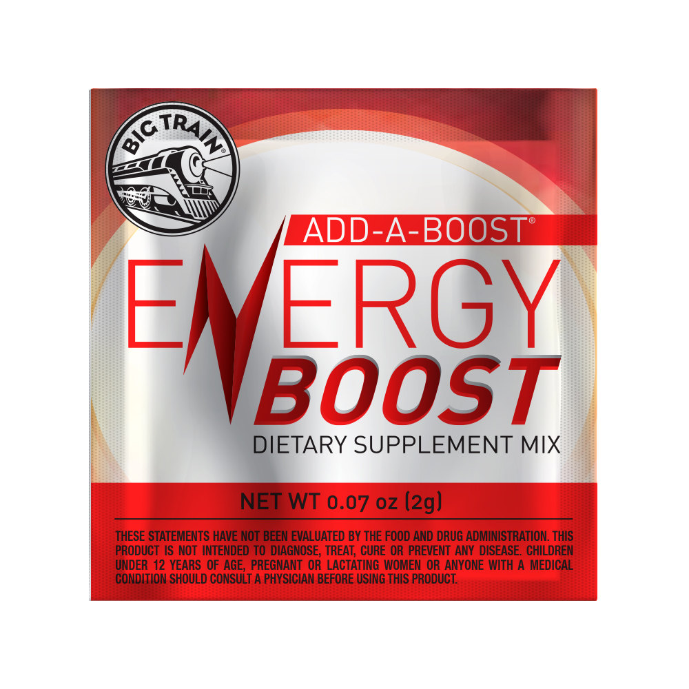 Big Train Add-A-Boost Energy Boost 2 gram Dietary Supplement Packets - 100/Pack