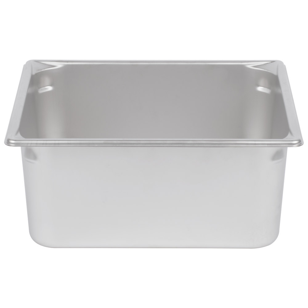 "Vollrath 30162 Super Pan V 2/3 Size Anti-Jam Stainless Steel Steam Table / Hotel Pan - 6"" Deep"