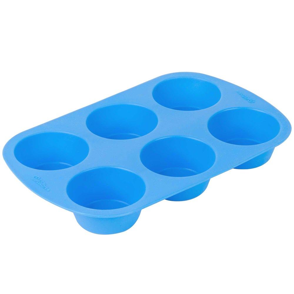 Wilton 2105 4802 Easy Flex Silicone 6 Cup Muffin Mold