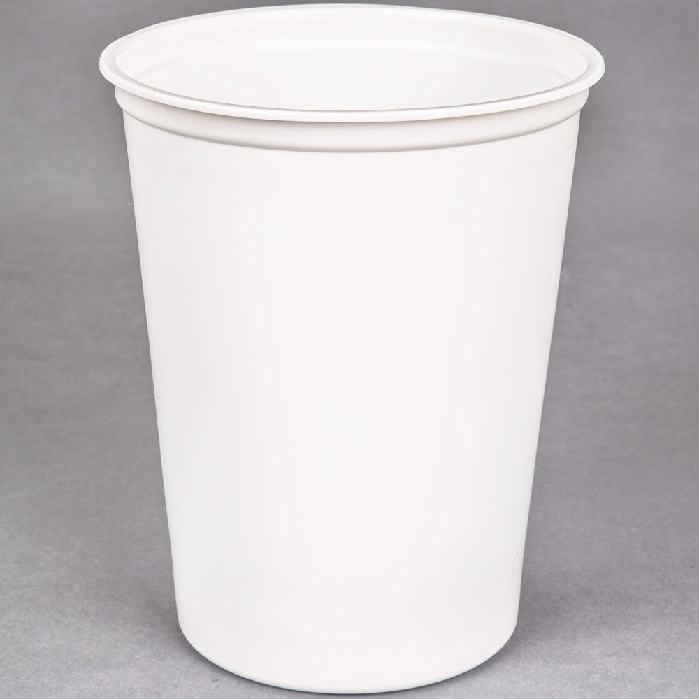 Choice 32 Oz White Microwavable Plastic Round Deli