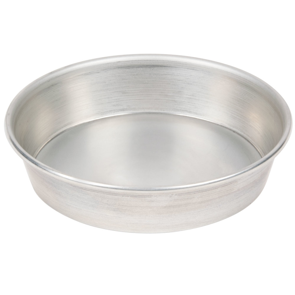 "American Metalcraft T9006 5 1/2"" x 1 1/8"" Tin-Plated Steel Pizza Pan"