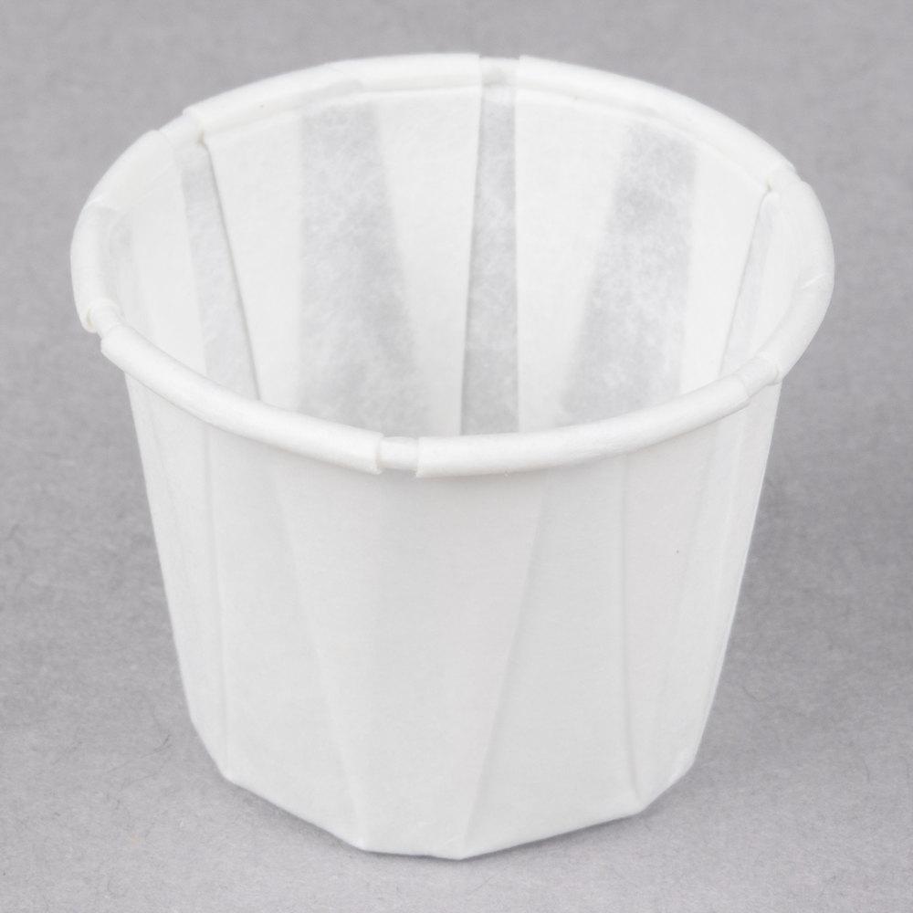 Genpak F075 75 Oz Harvest Paper Souffle Portion Cup
