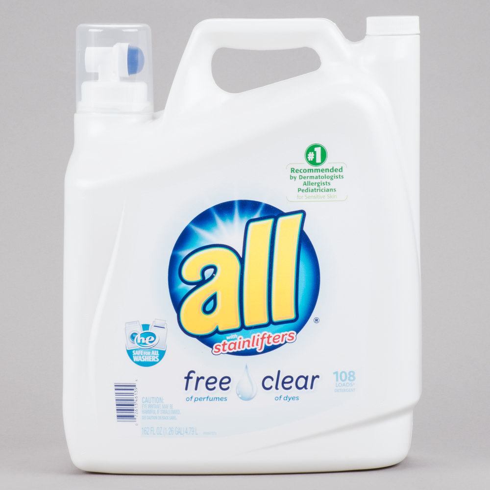 Diversey CB461391 162 oz. All Free Clear High Efficiency Laundry Detergent - 2/Case