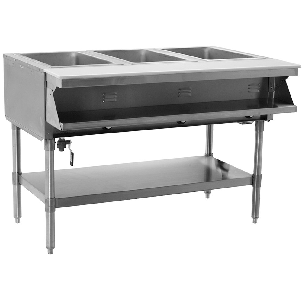 Liquid Propane Eagle Group Sht3 Steam Table Three Pan