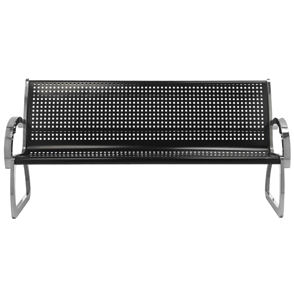 outdoor benches  outdoor bench seating - commercial zone  skyline series ' black and stainless steel indoor outdoor bench
