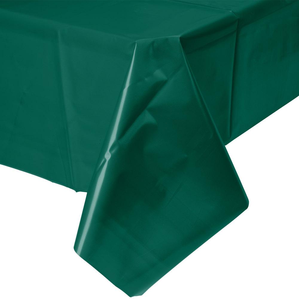 "Creative Converting 54"" x 108"" Hunter Green Disposable"