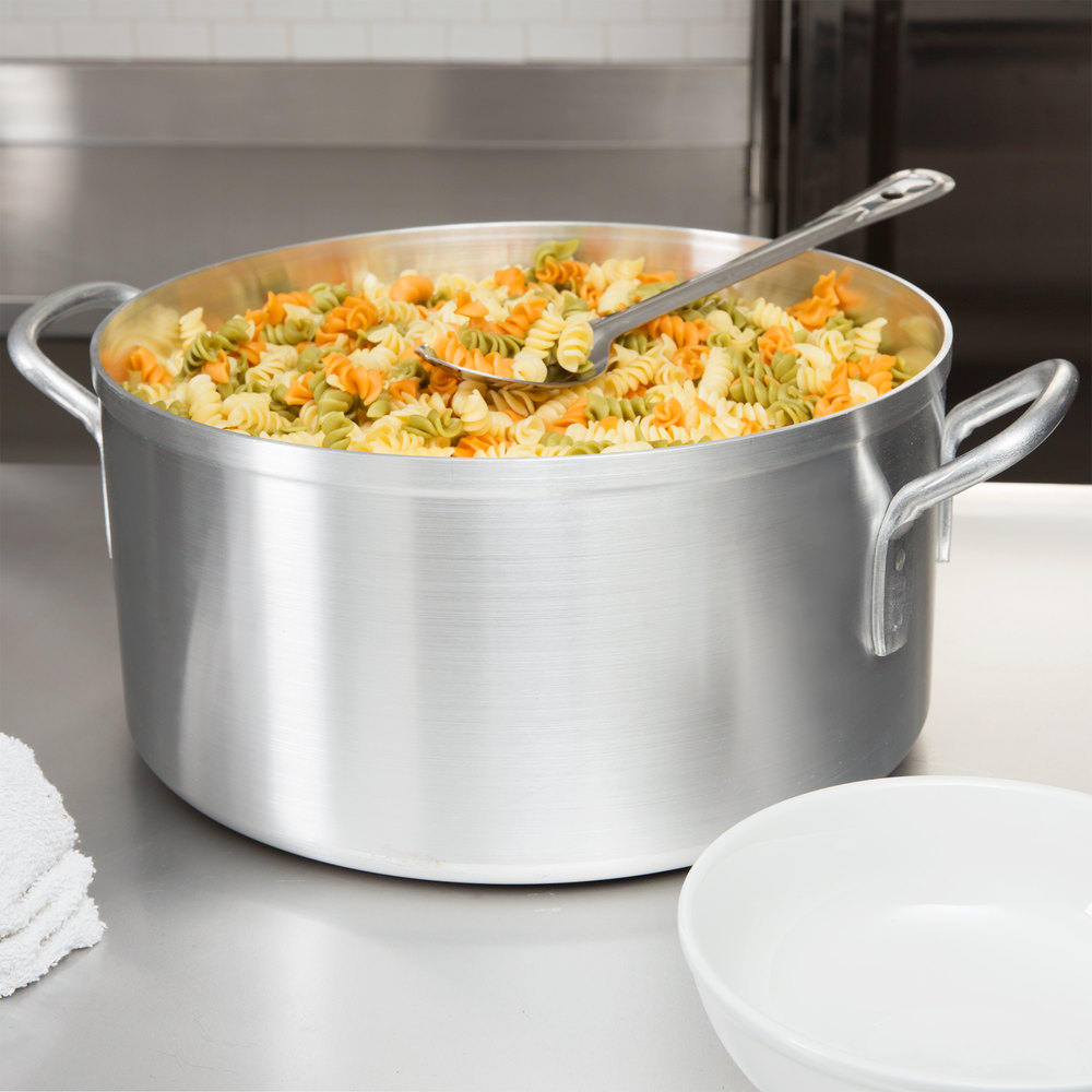 "Vollrath 68129 Wear-Ever 14"" x 7"" 18.5 Qt. Aluminum Pasta and Vegetable Pot"
