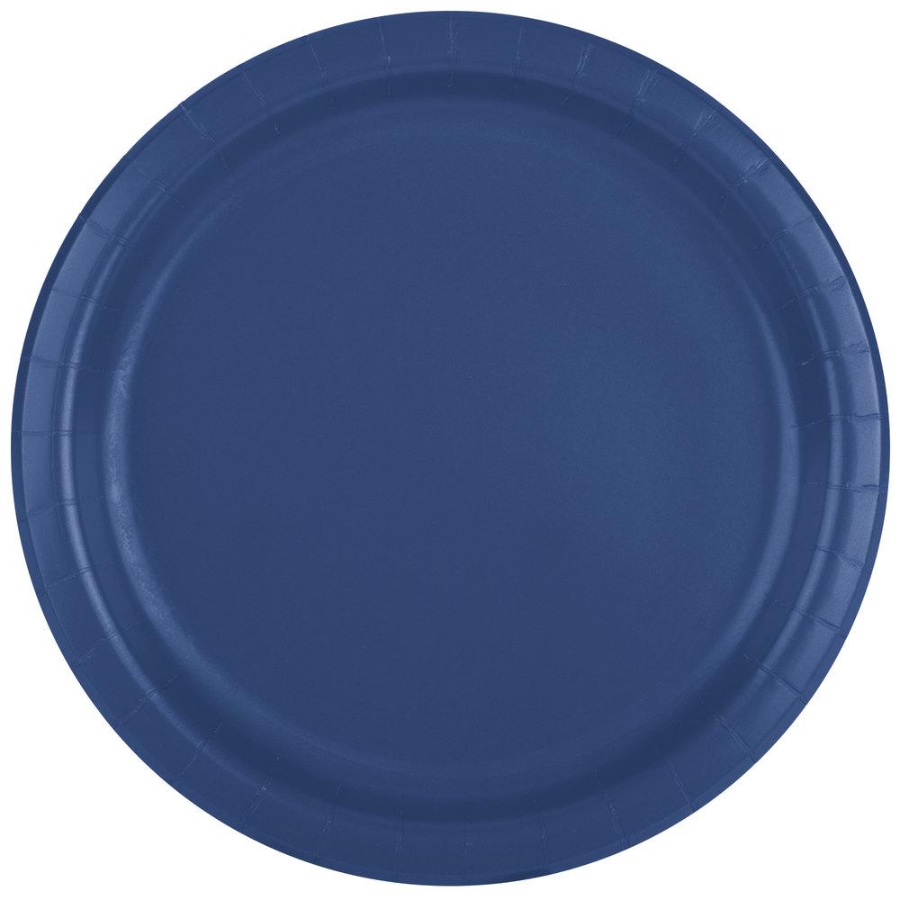 creative converting 471137b 9 navy blue paper plate 24 pack. Black Bedroom Furniture Sets. Home Design Ideas