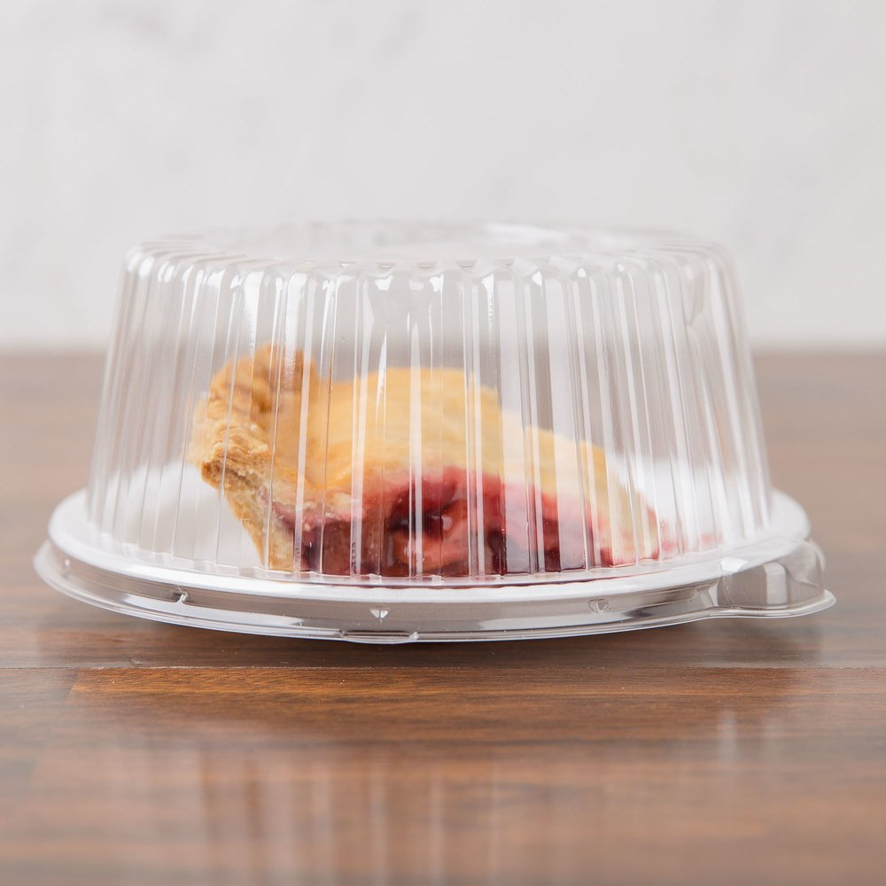 "Dart CL6P 6"" Clear Dome Lid for Foam Dinnerware - 125/Pack"