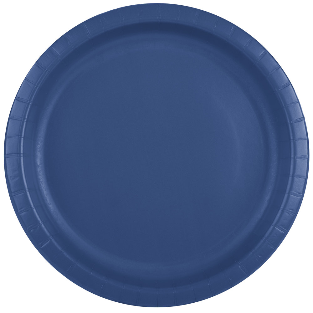 creative converting 501137b 10 navy blue paper plate 24 pack. Black Bedroom Furniture Sets. Home Design Ideas