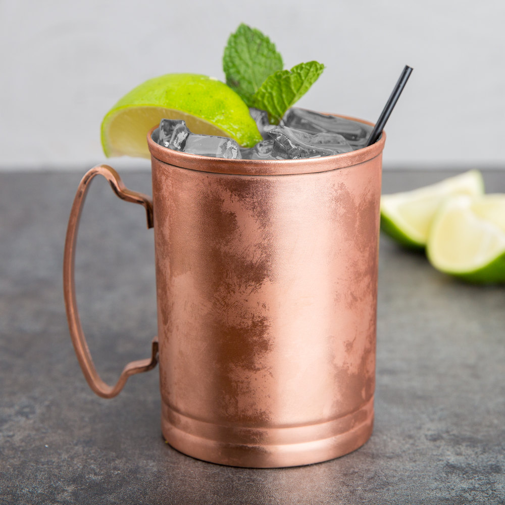 World Tableware CMM-200 14 Oz. Moscow Mule Cup With Copper