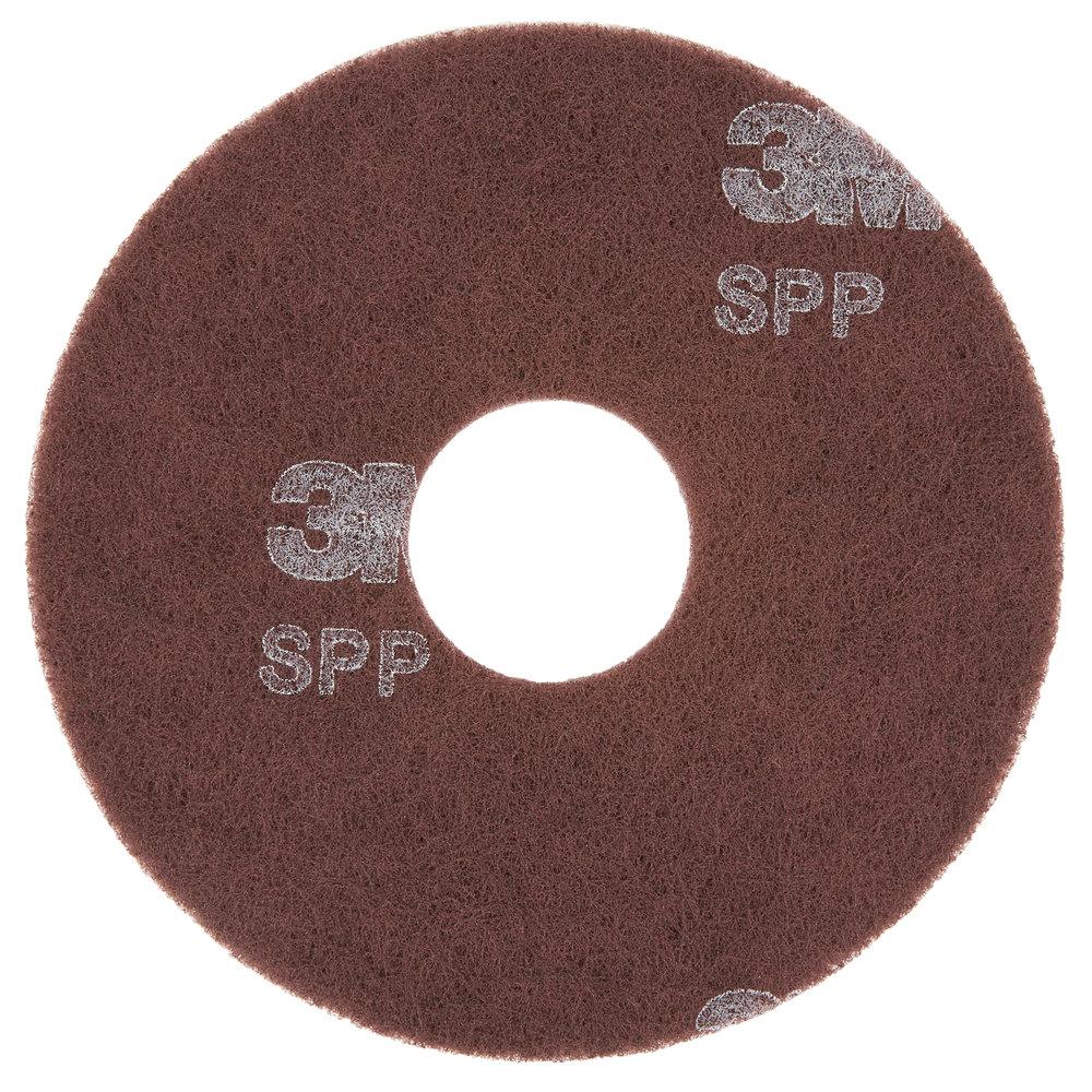 "3M SPP12 Scotch-Brite™ 12"" Surface Preparation Floor Pad - 10/Case"