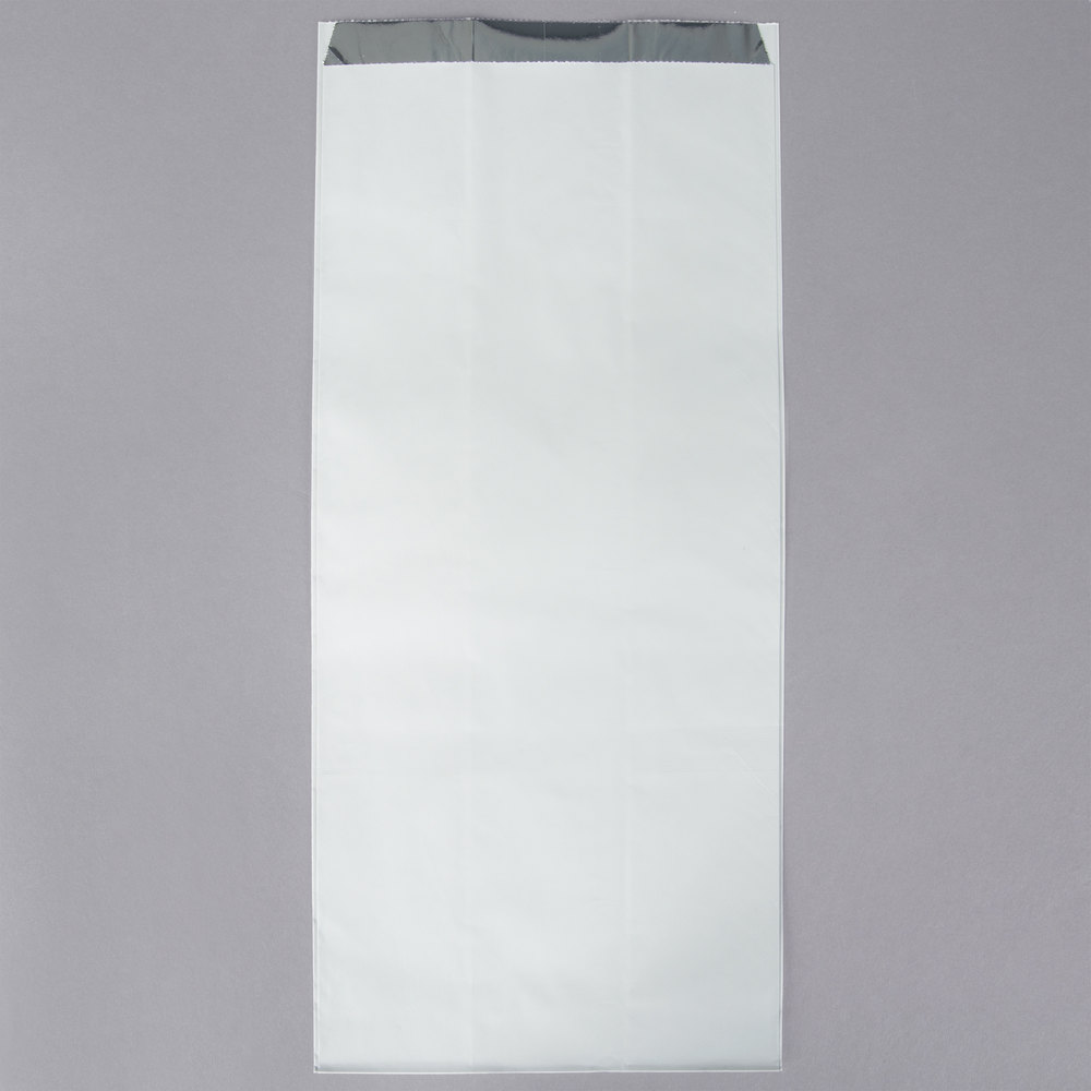 Carnival King 6 1/2 inch x 4 1/4 inch x 14 5/8 inch .5 Gallon Unprinted Foil Bag - 500/Case