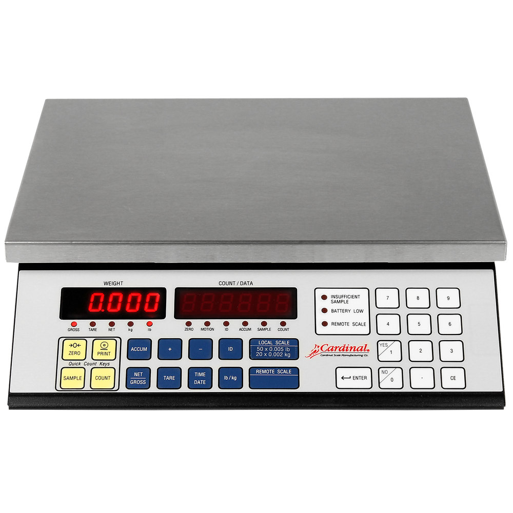 Cardinal Detecto 2240-50 50 lb. High Resolution Digital Counting Scale
