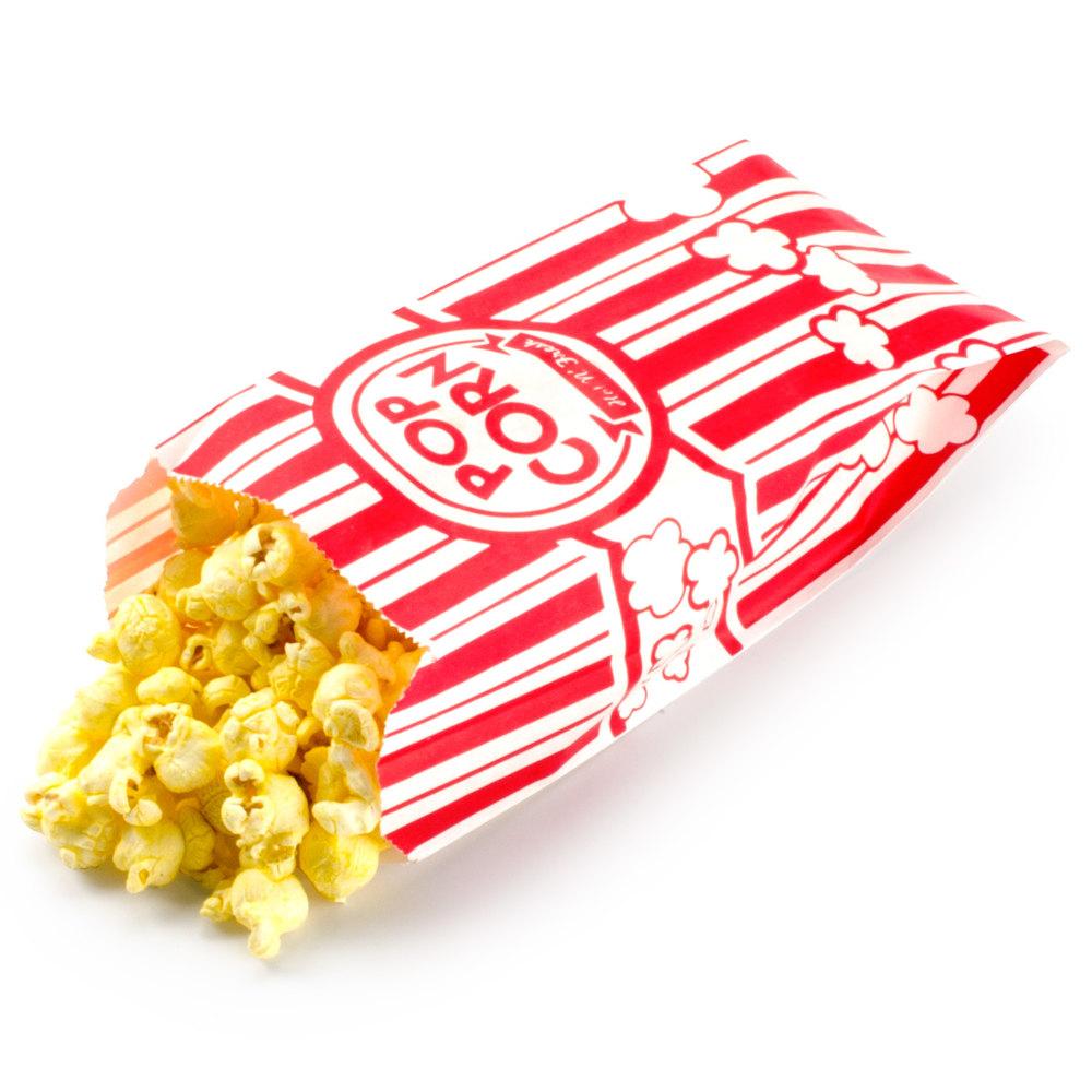 Carnival King 3 1 2 Quot X 2 1 4 Quot X 8 1 4 Quot Popcorn Bag 1000