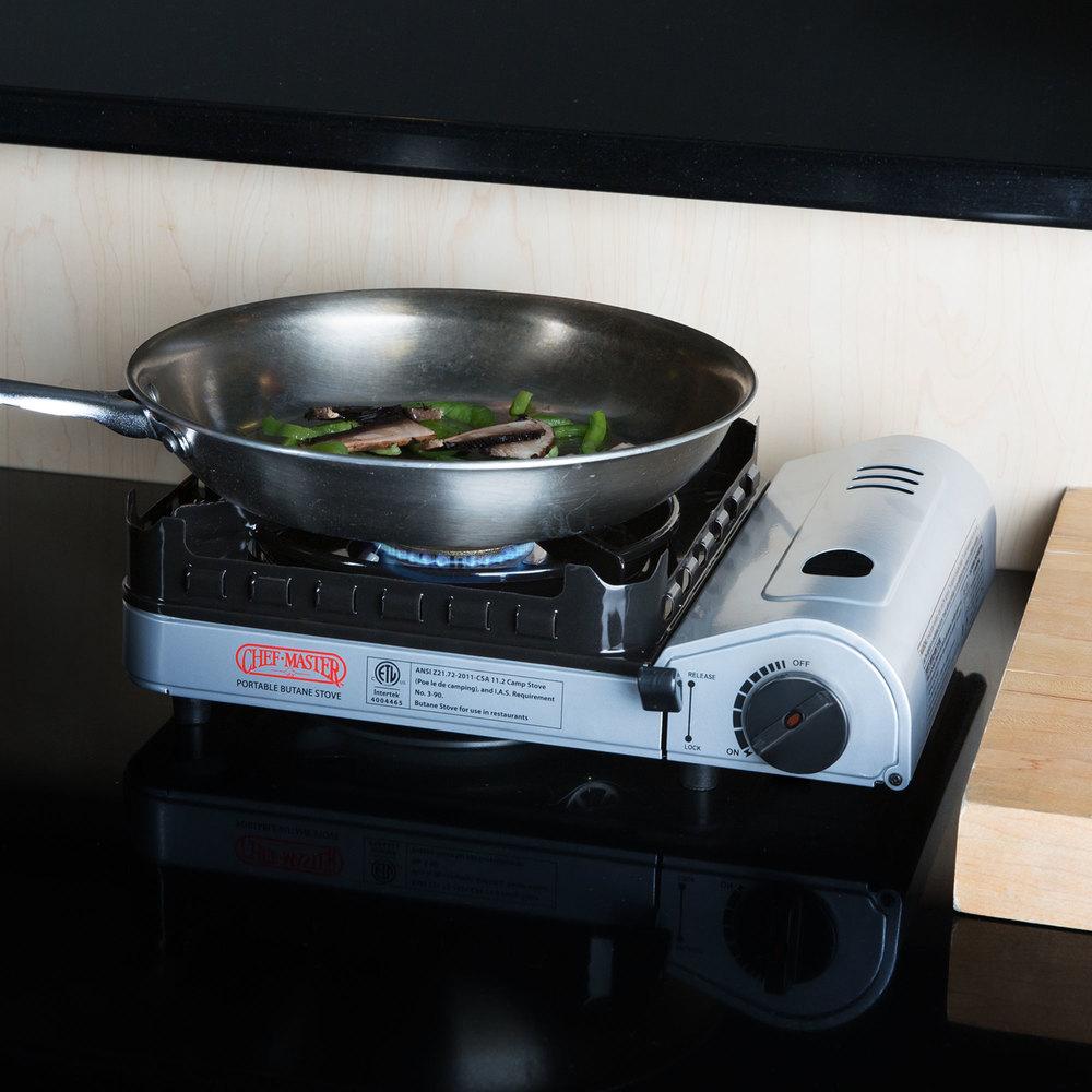 Countertop Butane Burner : Chef-Master 90019 1-Burner Butane Countertop Range - 15,000 BTU