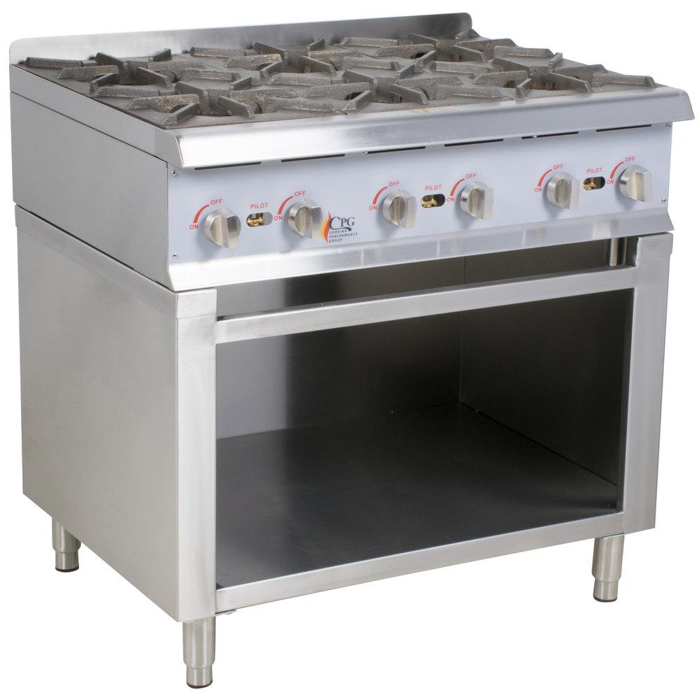 6cc993d0723 Cooking Performance Group 36RSBNL 6 Burner Gas Range   Hot ...