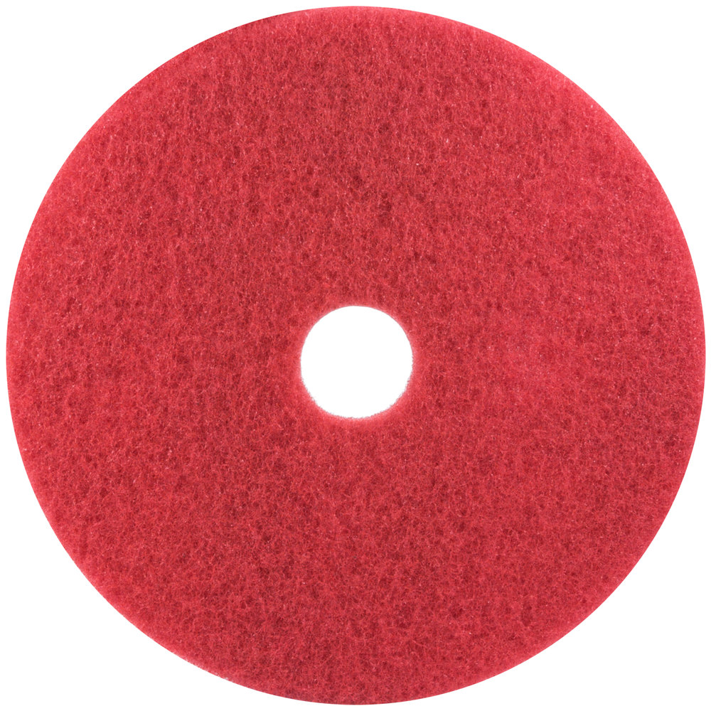 3m 5100 17 red buffing floor pad 5 case for 17 floor buffer pads