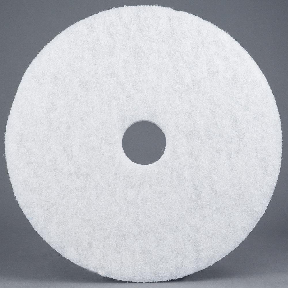 3m 4100 17 white super polishing floor pad 5 case for 17 floor buffer pads
