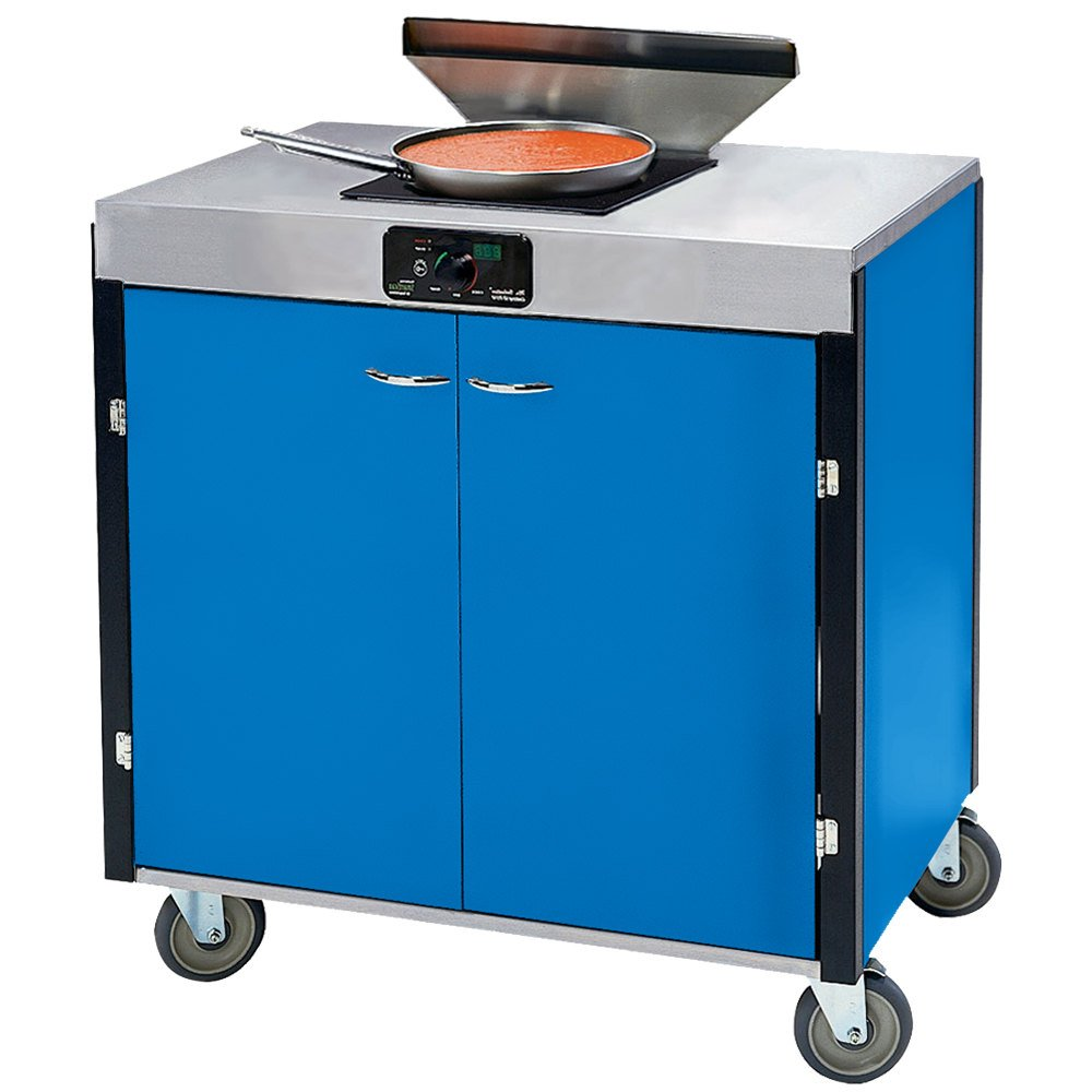 lakeside creation express mobile cooking cart with 1 induction burner 1 filtration unit and royal blue - Induction Burner