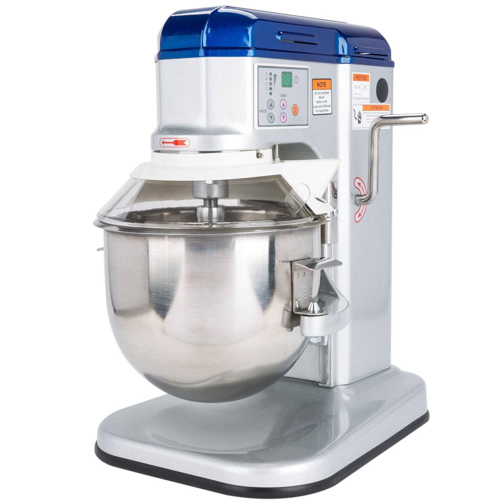 Countertop Mixer : Vollrath 40755 7 qt. Countertop Commercial Mixer with Guard - 1/3 HP