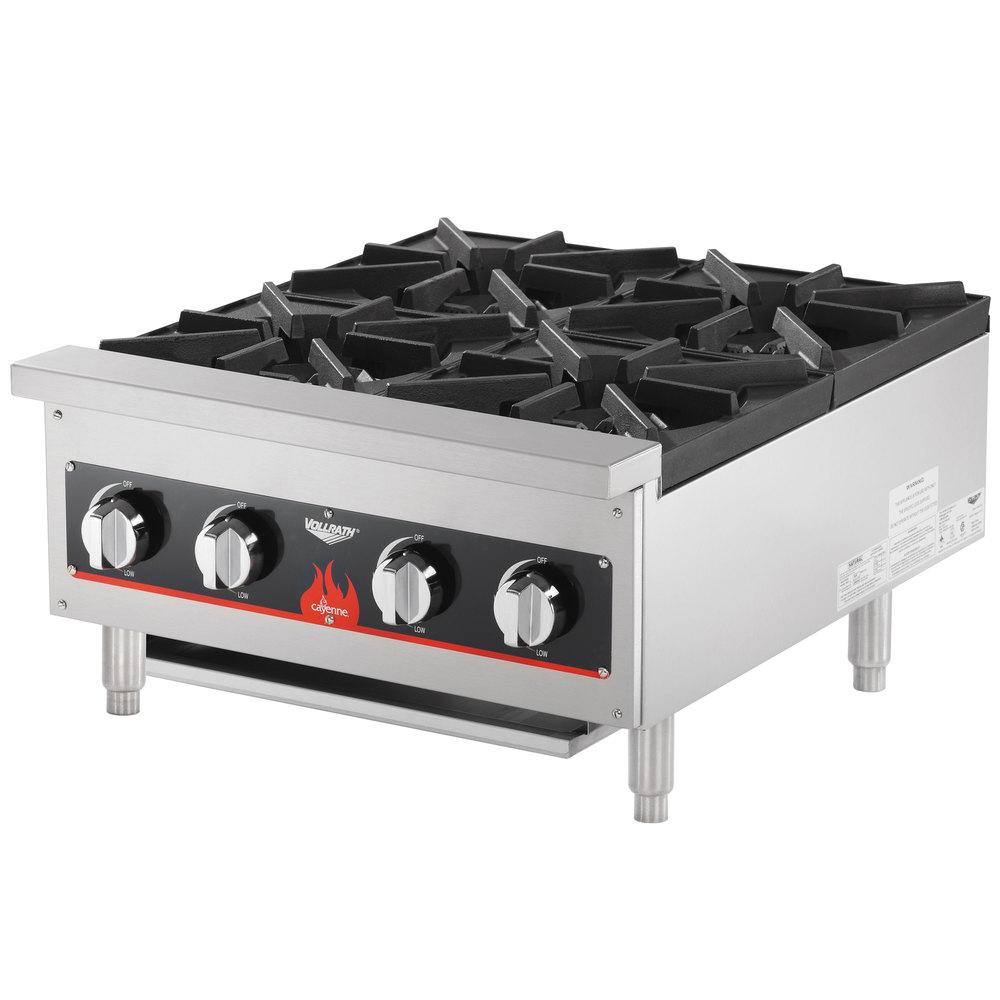 Countertop Gas Burner : Vollrath 40737 4 Burner Counter Top Hot Plate / Range Natural / LP Gas