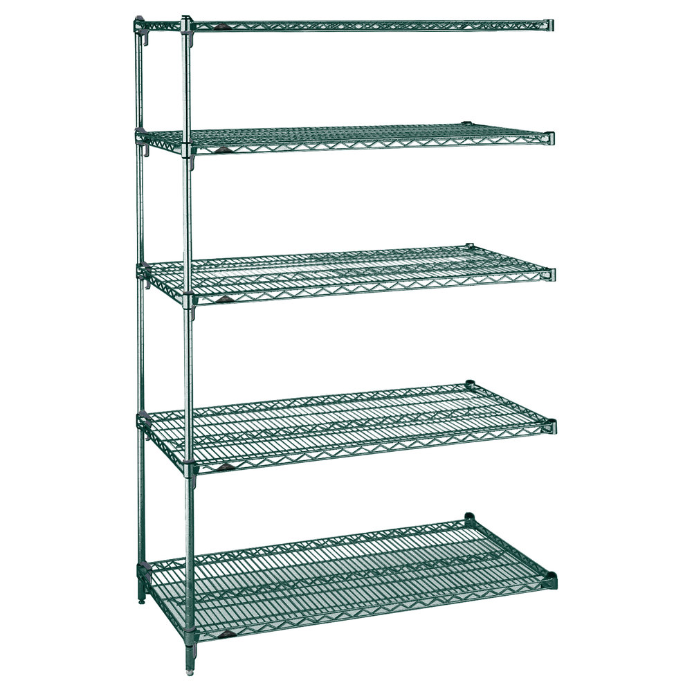 "Metro 5AA537K3 Stationary Super Erecta Adjustable 2 Series Metroseal 3 Wire Shelving Add On Unit - 24"" x 36"" x 74"""