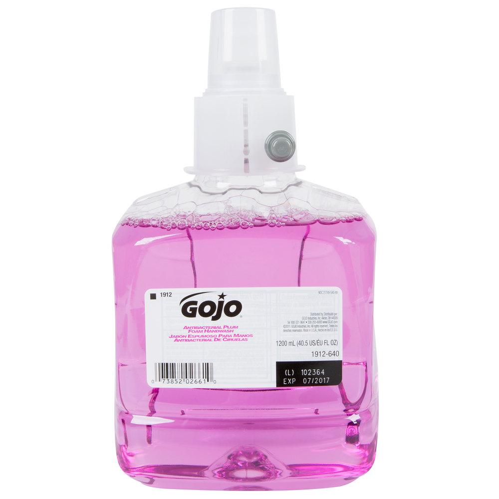 Gojo 174 1912 02 Ltx Plum 1200 Ml Foaming Antibacterial Hand Soap