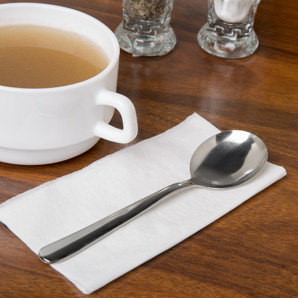 Windsor Flatware Stainless Steel Bouillon Spoon - 12/Pack