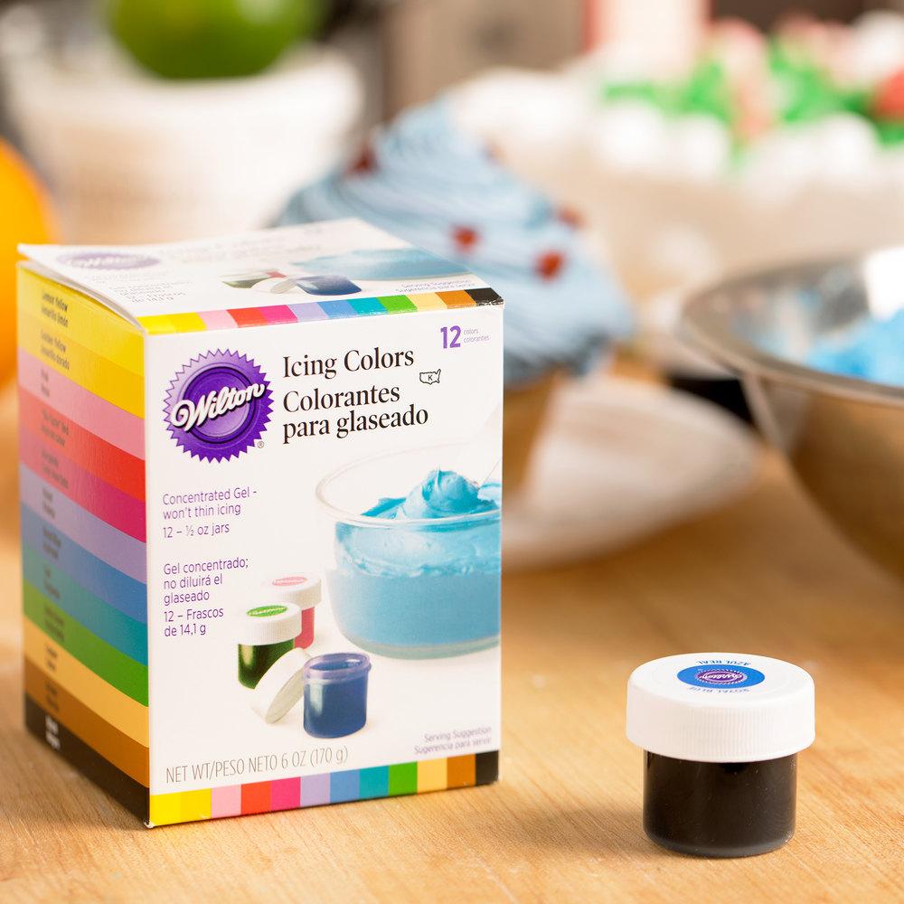 601-5580 12-Pack of .5 oz. Gel Food Colors - 12/Pack