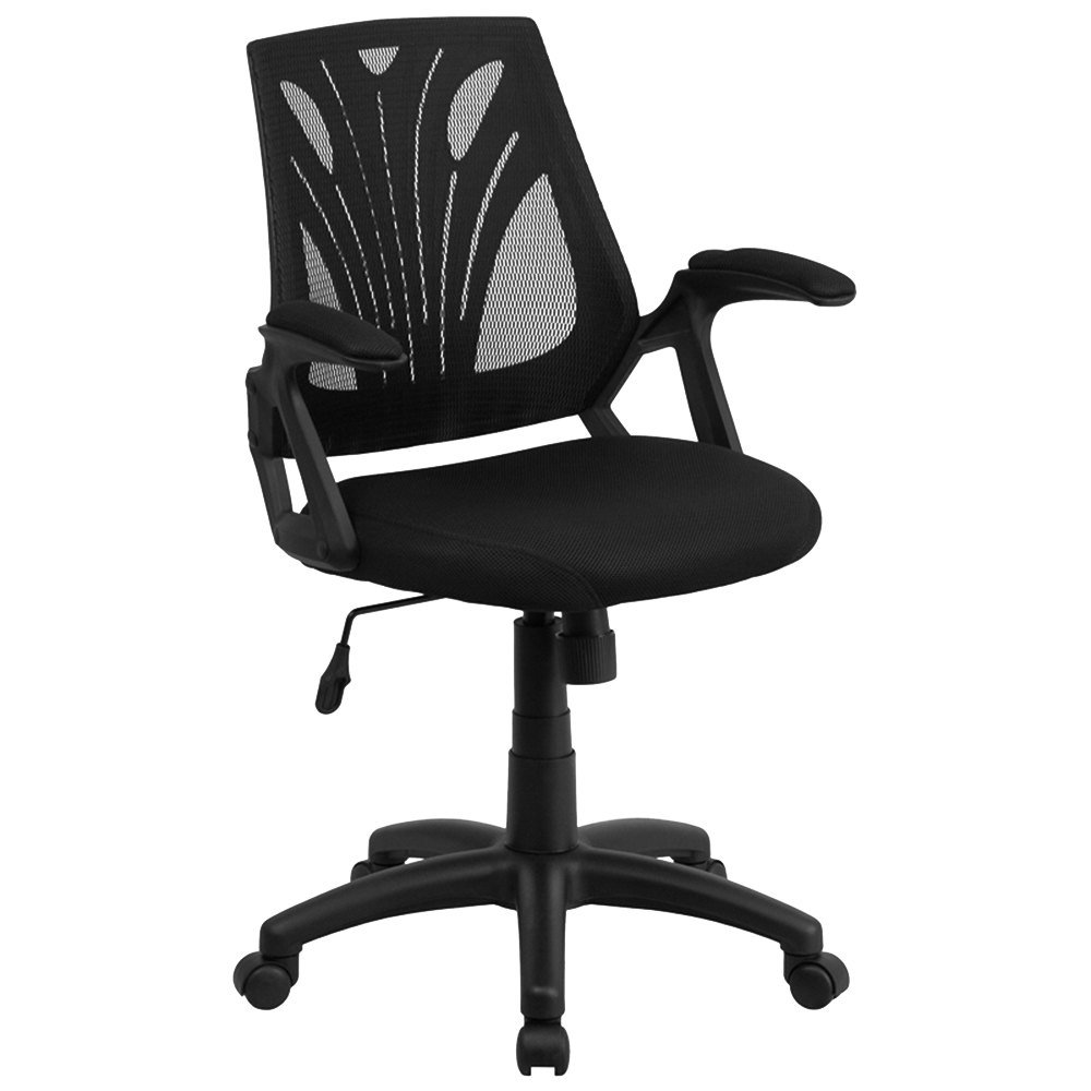 flash furniture go wy 82 gg mid back black mesh ergonomic office chair