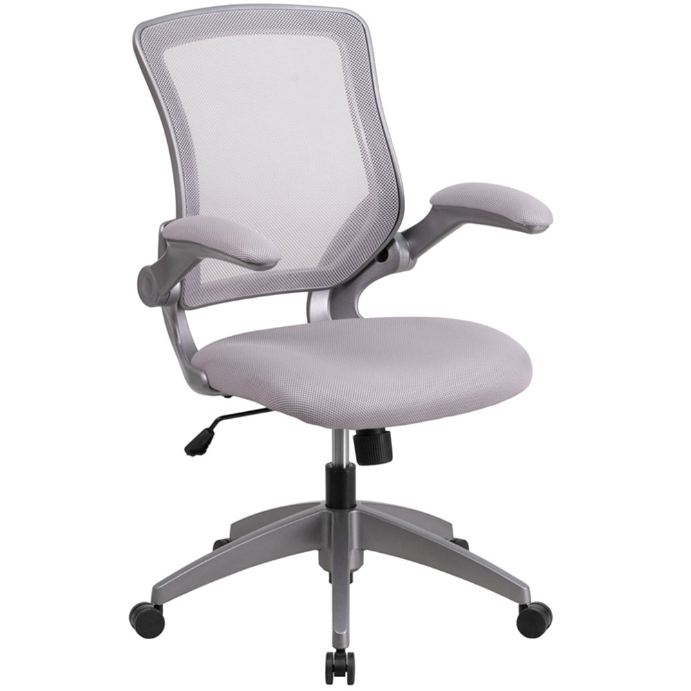 flash furniture bl-zp-8805-gy-gg mid-back gray mesh office chair