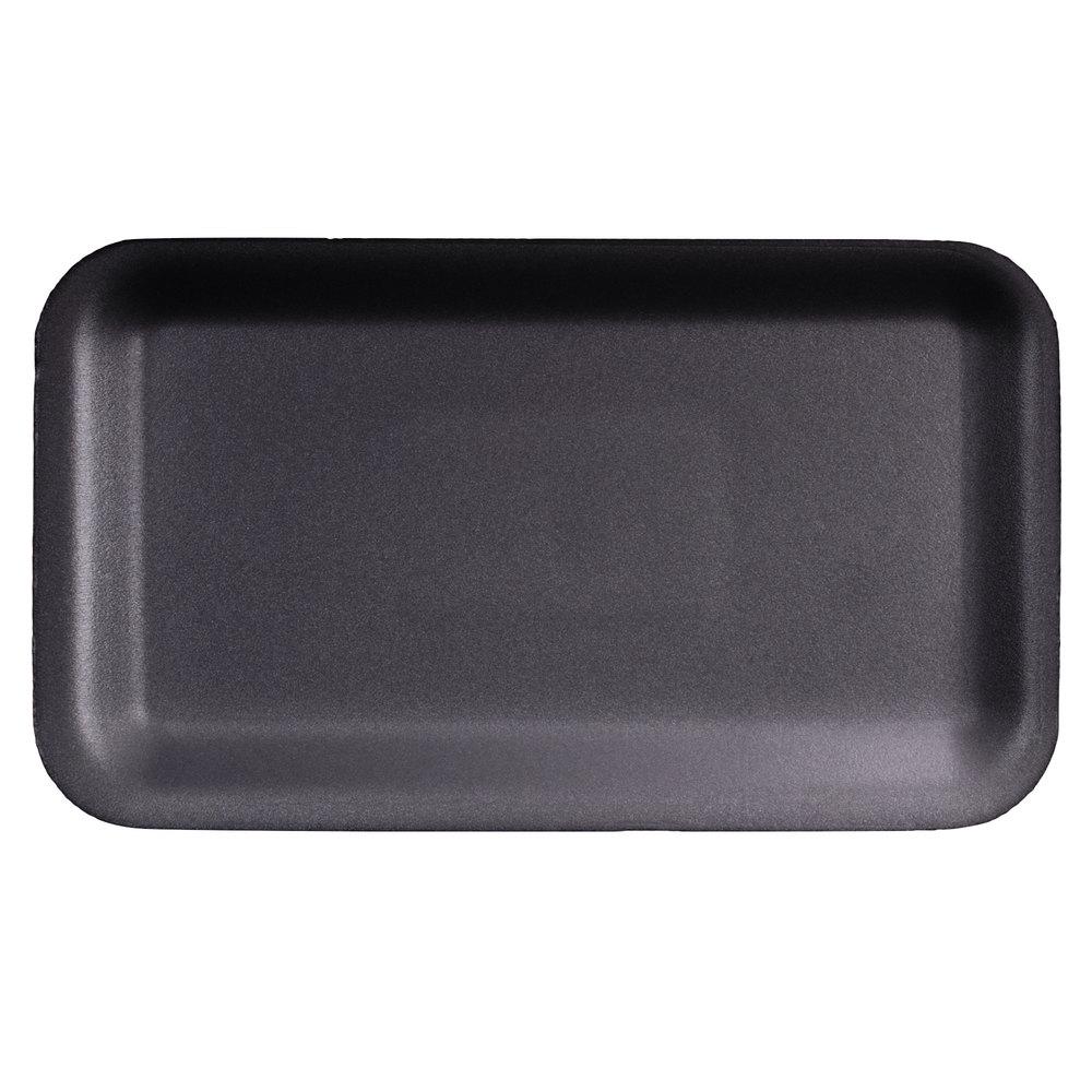 Genpak 1017s 17s Foam Meat Tray Black 8 1 4 Quot X 4 3 4 Quot X