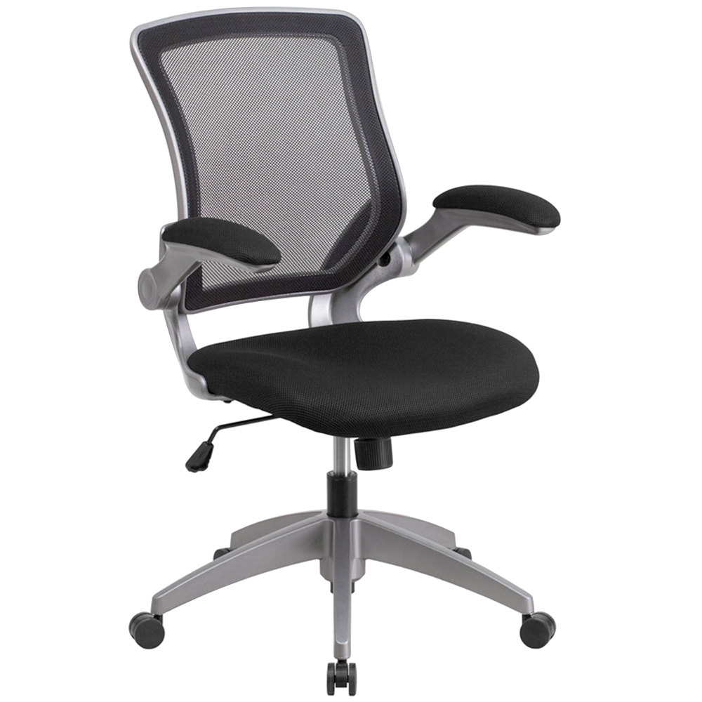 Black and white office chair - Flash Furniture Bl Zp 8805 Bk Gg Mid Back Black Mesh Office Chair Task Chair With