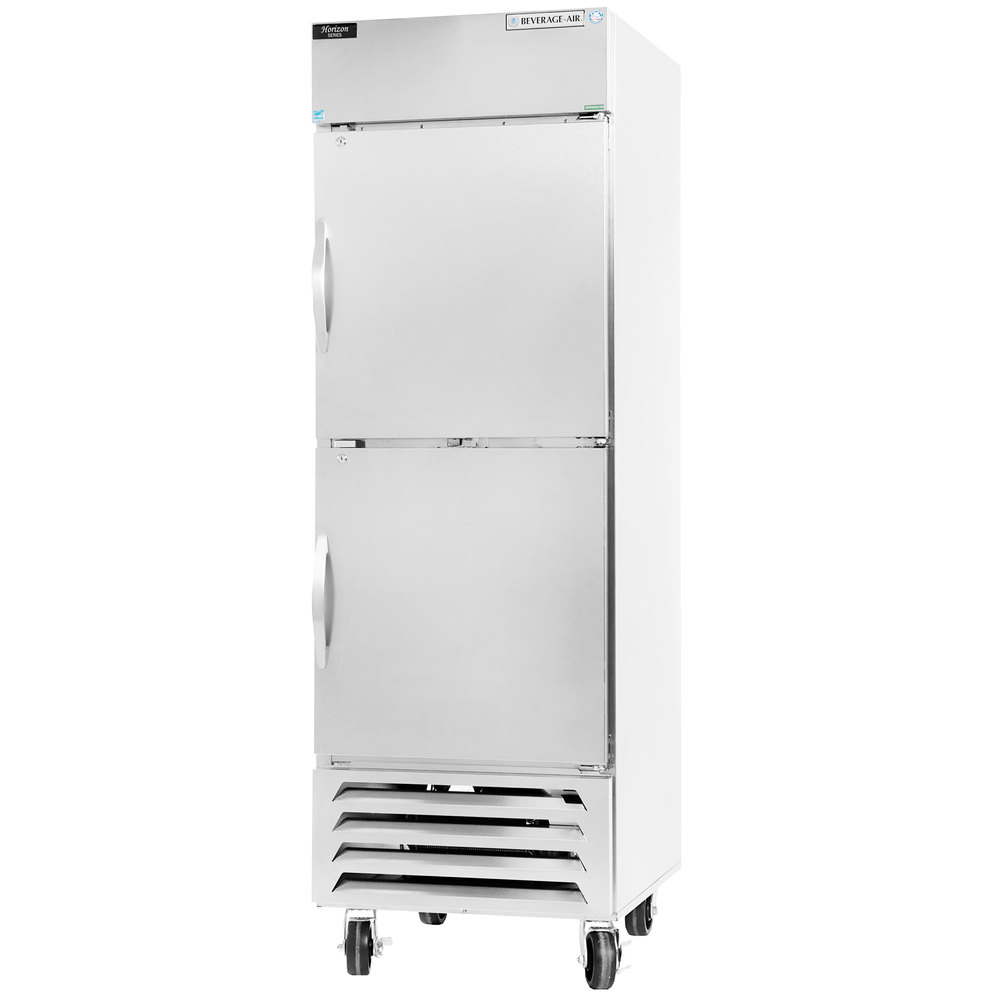 "Beverage-Air RB23-1HS 27"" Vista Series One Section Solid Half Door Reach-In Refrigerator - 23 cu. ft."