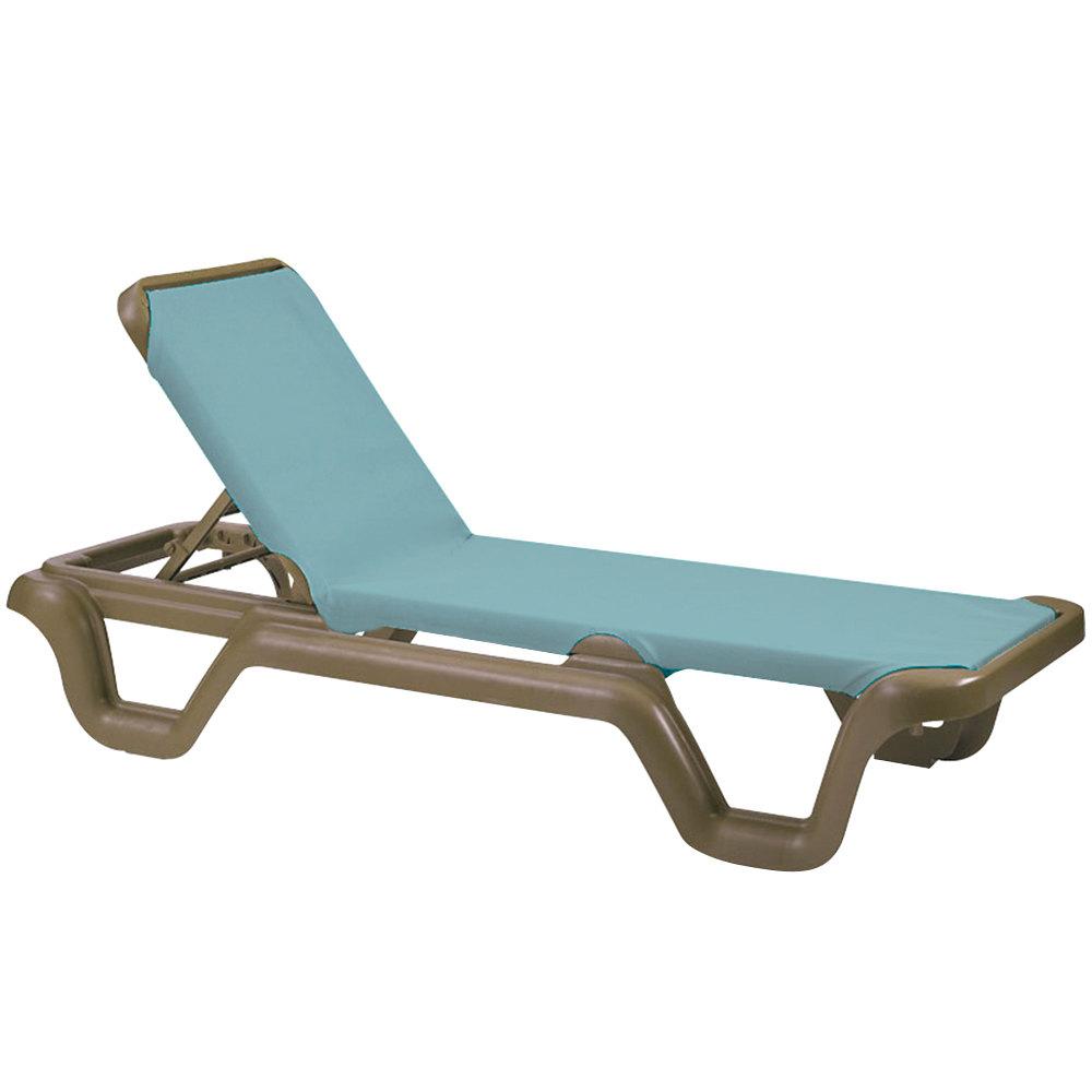 Grosfillex 99414550 us414550 marina bronze mist spa for Chaise longue resine