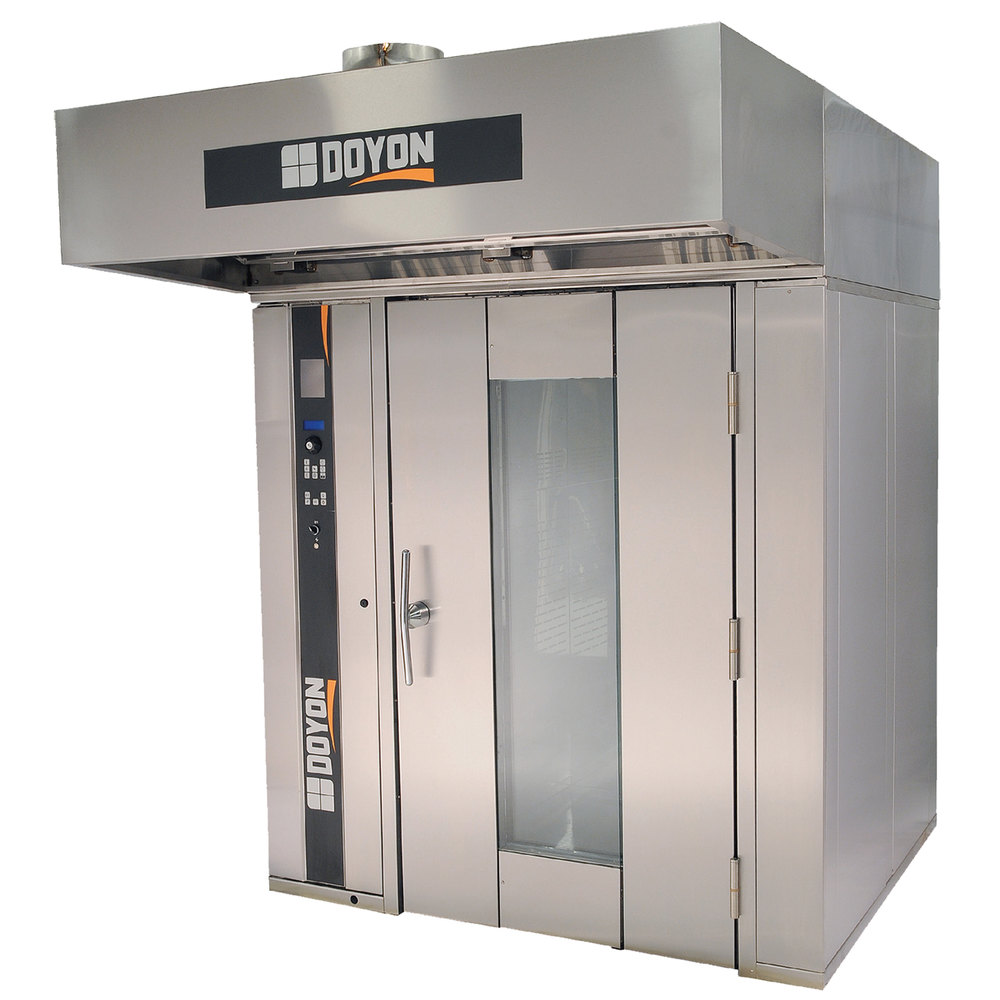doyon sro2g liquid propane double rotating rack bakery convection oven 208v 1 phase - Convection Ovens