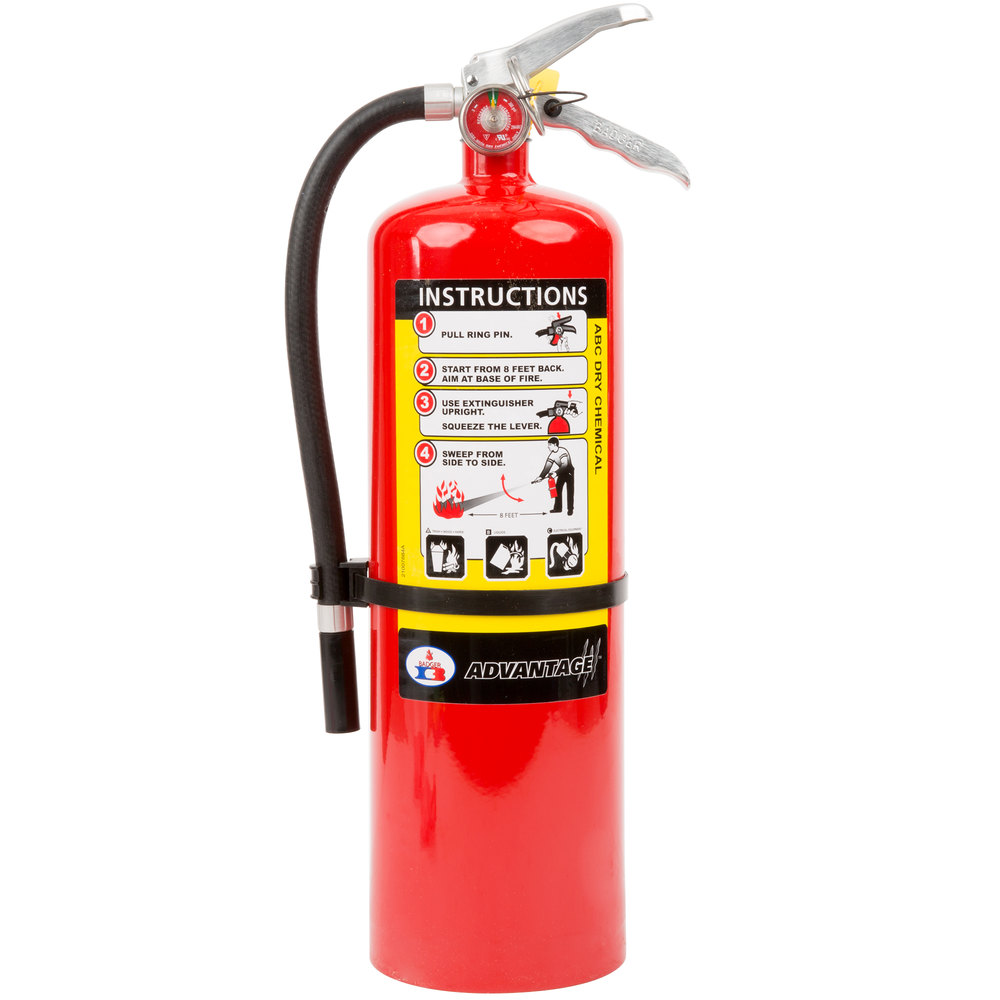 Abc Fire Extinguisher >> Badger Advantage Adv 10 10 Lb Dry Chemical Abc Fire Extinguisher With Wall Bracket Untagged And Rechargeable Ul Rating 4 A 60 B C