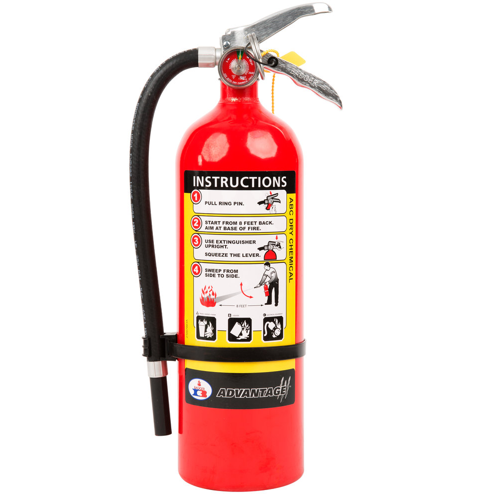 badger advantage adv 550 5 lb dry chemical abc fire extinguisher with wall bracket untagged. Black Bedroom Furniture Sets. Home Design Ideas