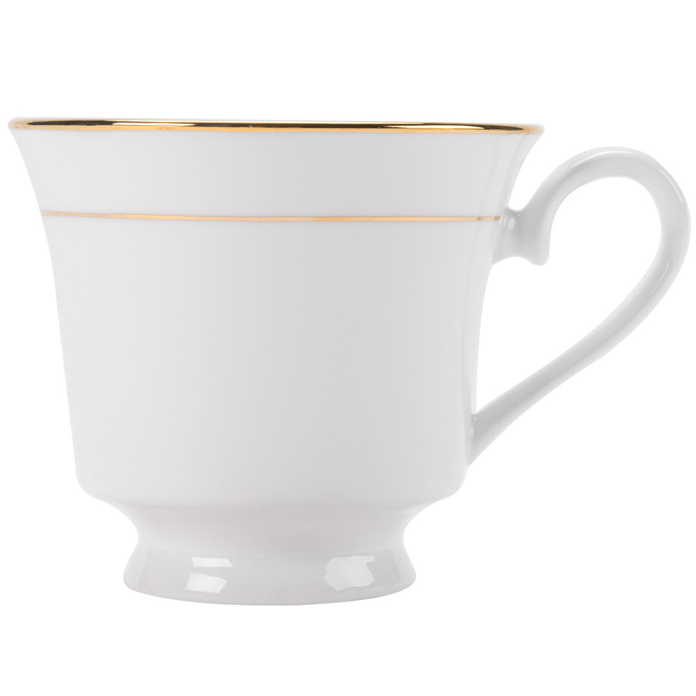 CAC GRY-1 Golden Royal 7 oz. Bright White Porcelain Banquet Cup - 36/Case