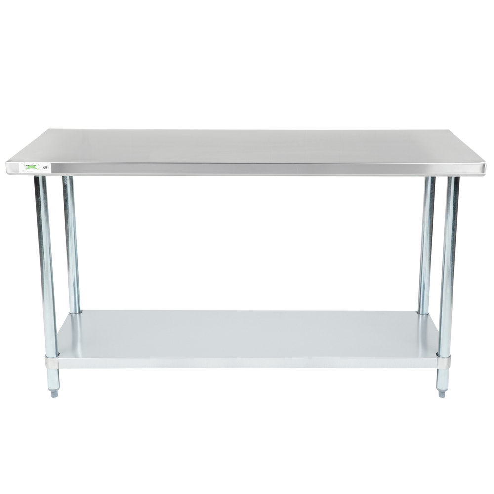 Design Stainless Steel Tables regency 24 x 60 18 gauge 304 stainless steel commercial work table with main picture