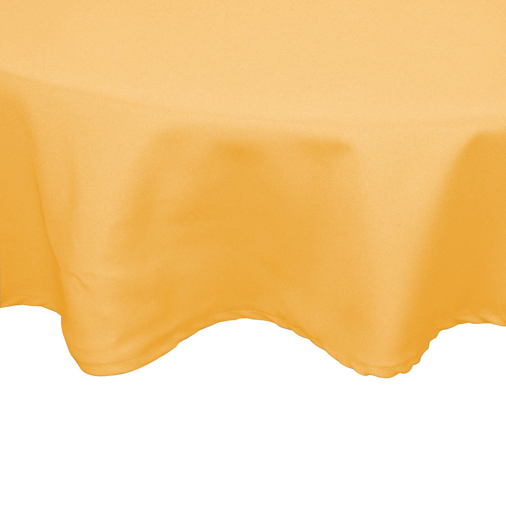 120 round gold 100 polyester hemmed cloth table cover for 120 round table cover