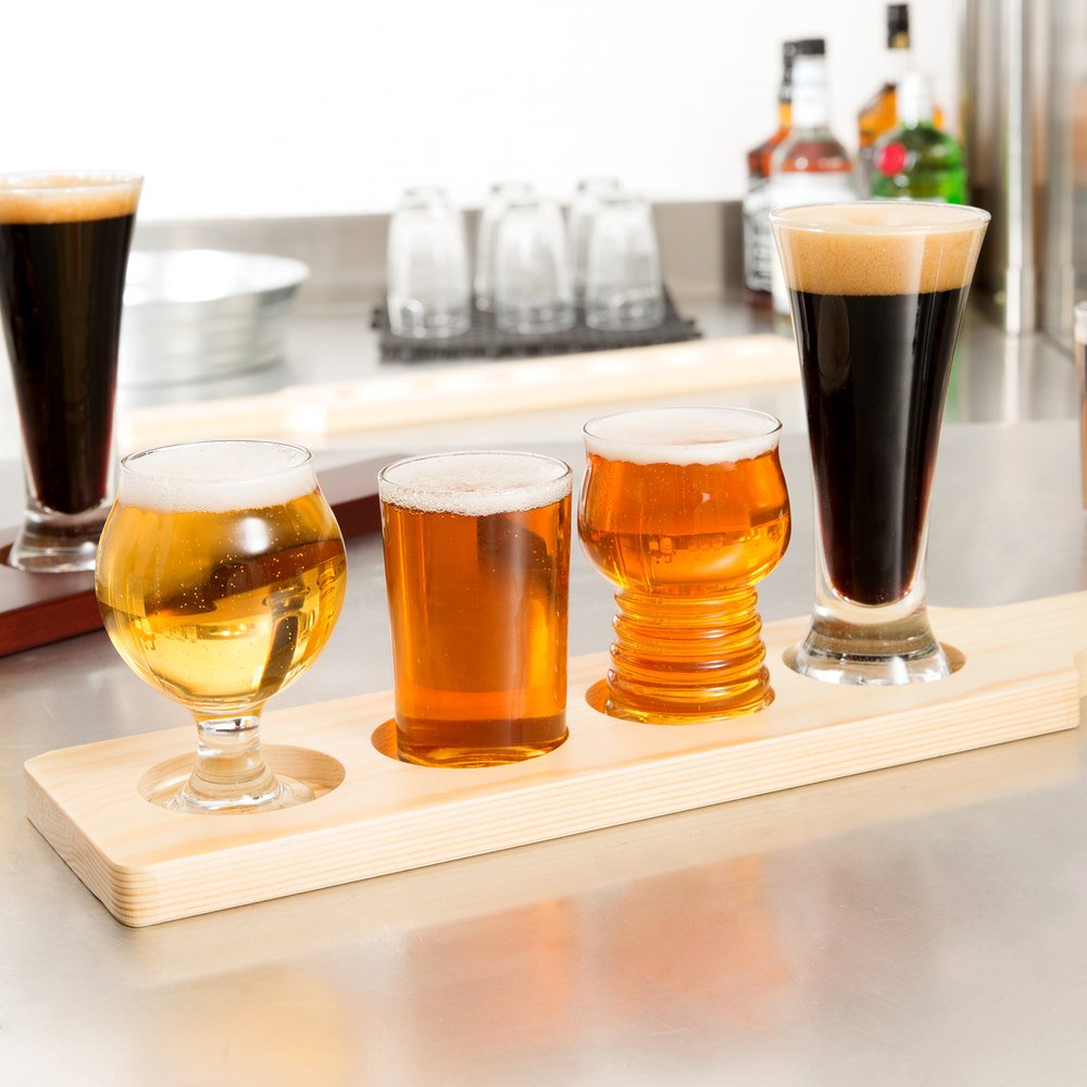 libbey variety craft brews beer flight 4 unique glass set. Black Bedroom Furniture Sets. Home Design Ideas