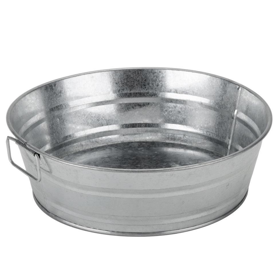 American Metalcraft Mtub10 10 Quot X 3 Quot Round Galvanized Metal Tub