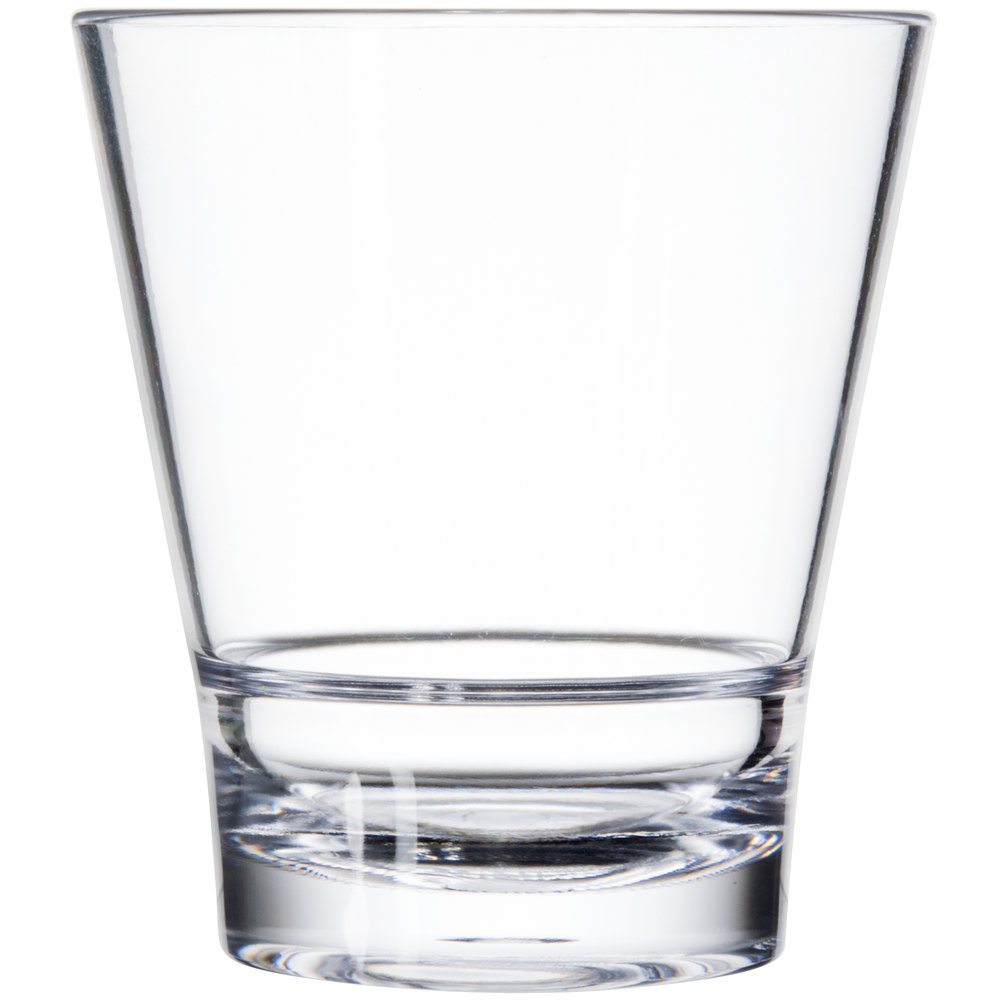 how to clean clear plastic glasses