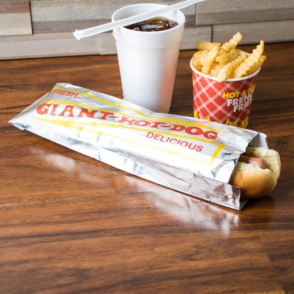 Hot Dog Foil Wrappers