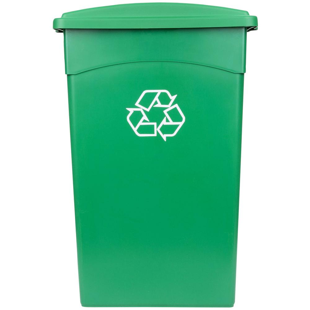 Continental 23 Gallon Green Wall Hugger Recycling Trash