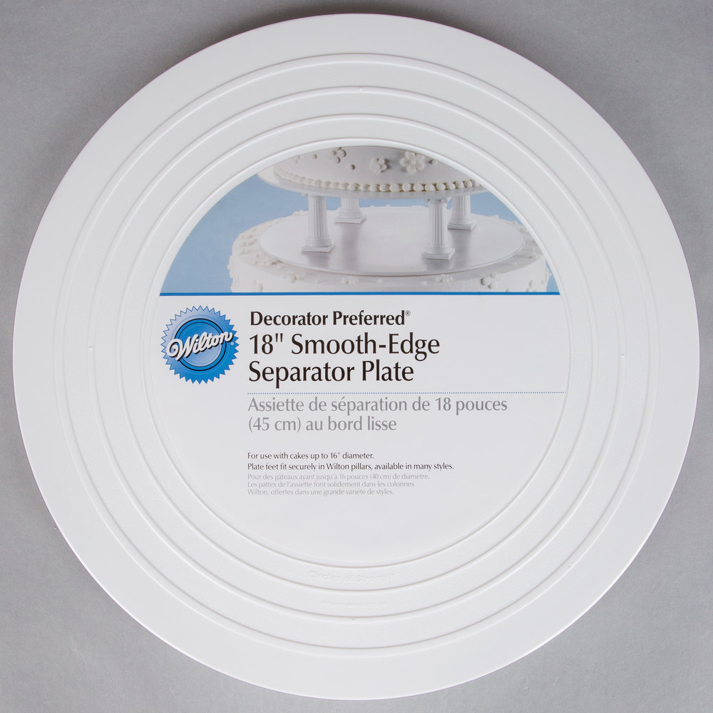 Wilton 302-4107 Decorator Preferred Round Smooth Edge Cake Separator Plate - 18""