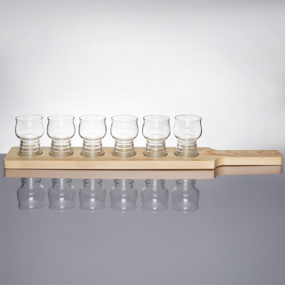 libbey craft cider beer flight 4 glass set with. Black Bedroom Furniture Sets. Home Design Ideas