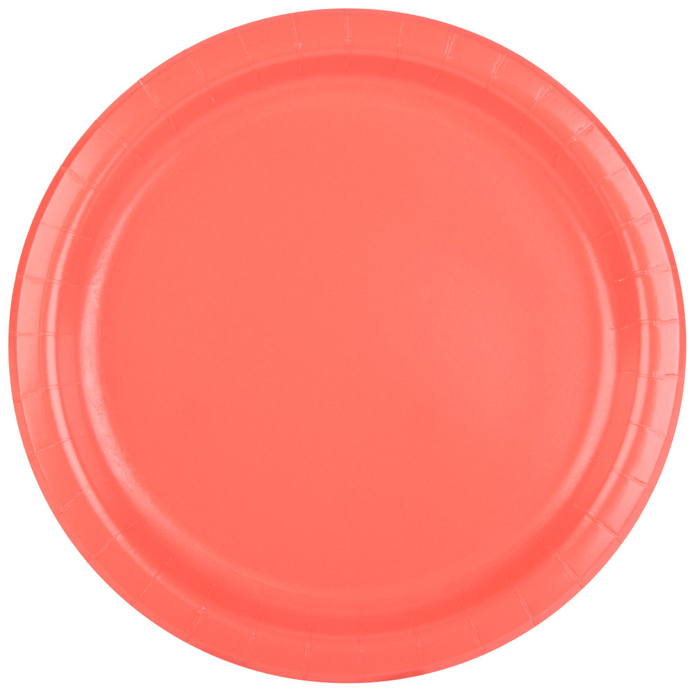 coral paper plates